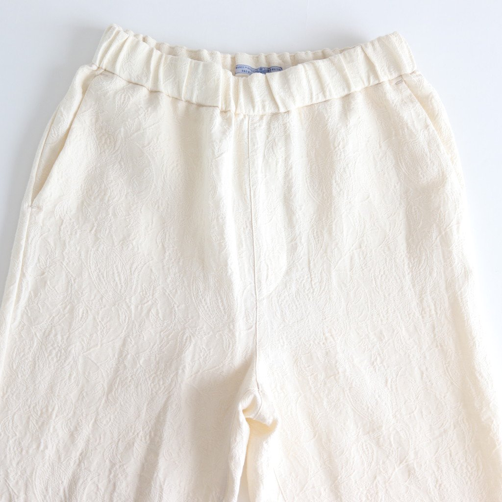 C/L JACQUARD STRING PANTS #IVORY [no.3731]