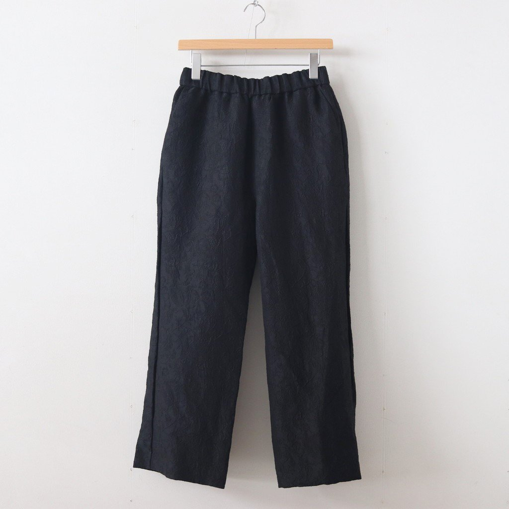 C/L JACQUARD STRING PANTS #BLACK [no.3731]