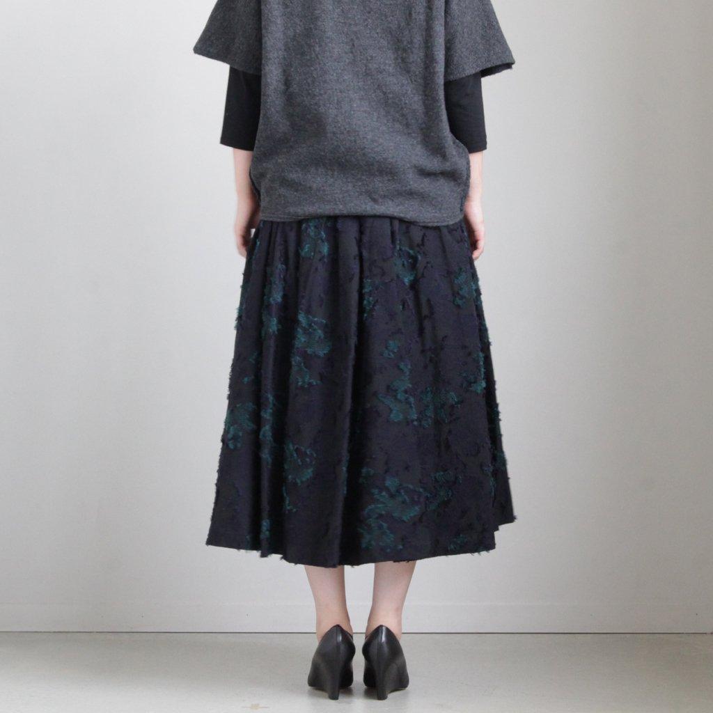トラピーズスカート #BLACK [19-651]