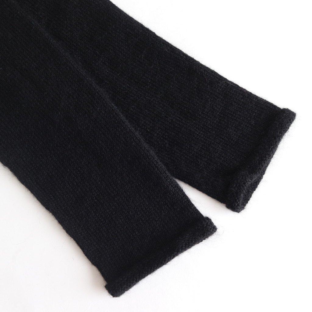 WHOLE GARMENT TURTLE NECK PULLOVER #BLACK [sa19131-5]