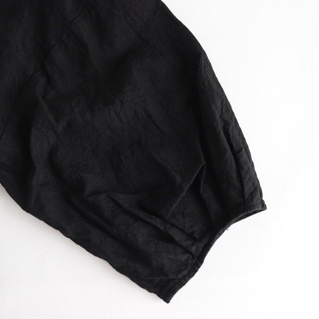 高密度リネンブッファンロングカーディガン #BLACK [OP19506]