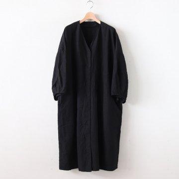 高密度リネンブッファンロングカーディガン #BLACK [OP19506] - pub | ピューブ
