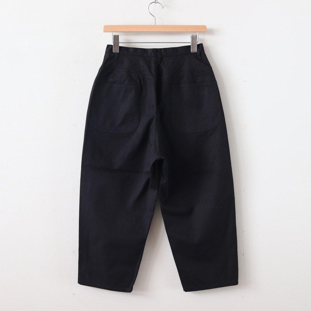 高密度ギャバロークロッチパンツ #BLACK [192-576]