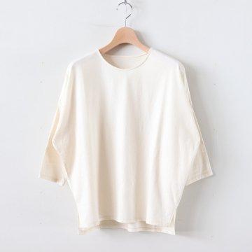 30/-度詰天竺 ドロップショルダーTシャツ #キナリ [162-421] _ koton | コトン