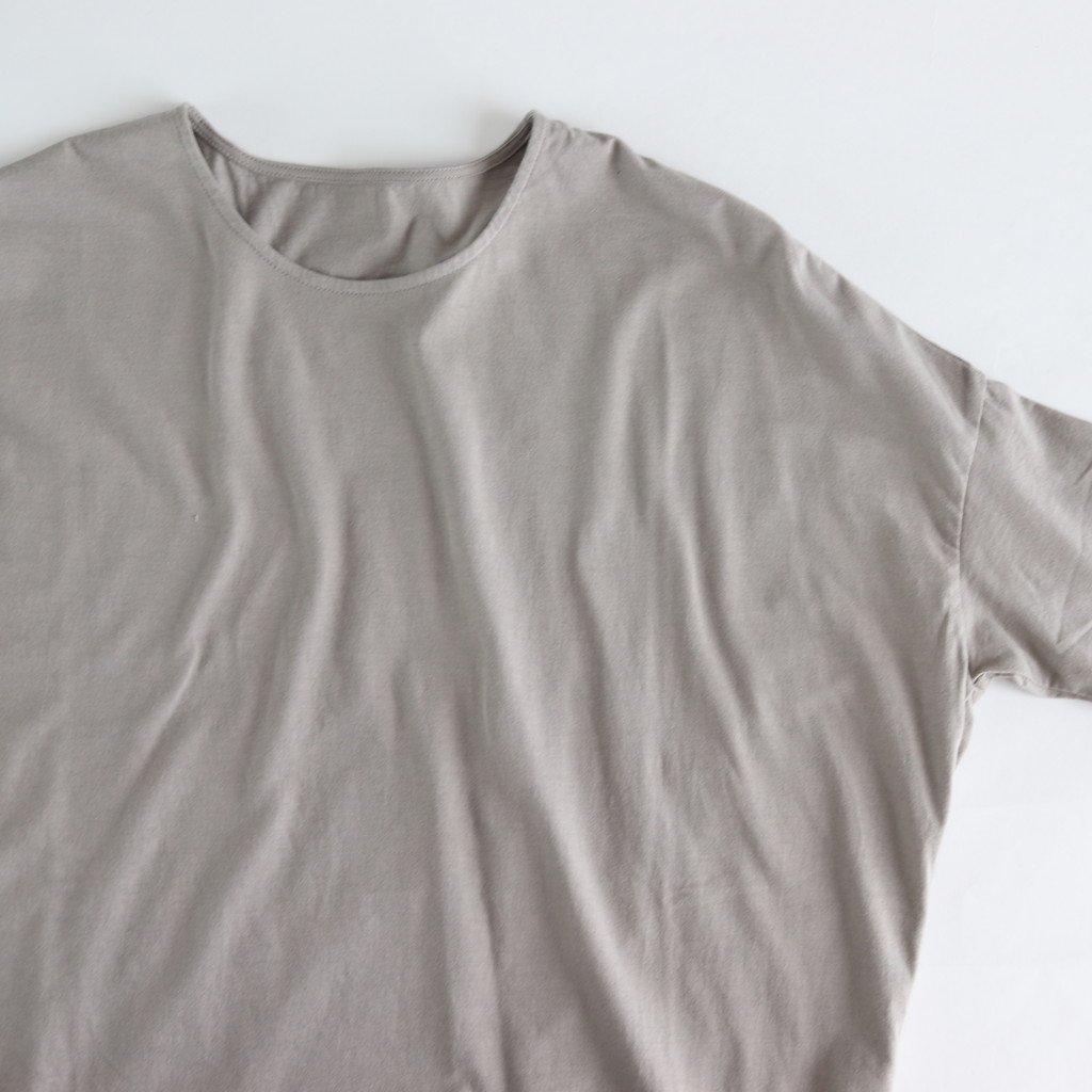 30/-度詰天竺 ドロップショルダーTシャツ #GRAY BEIGE [162-421]