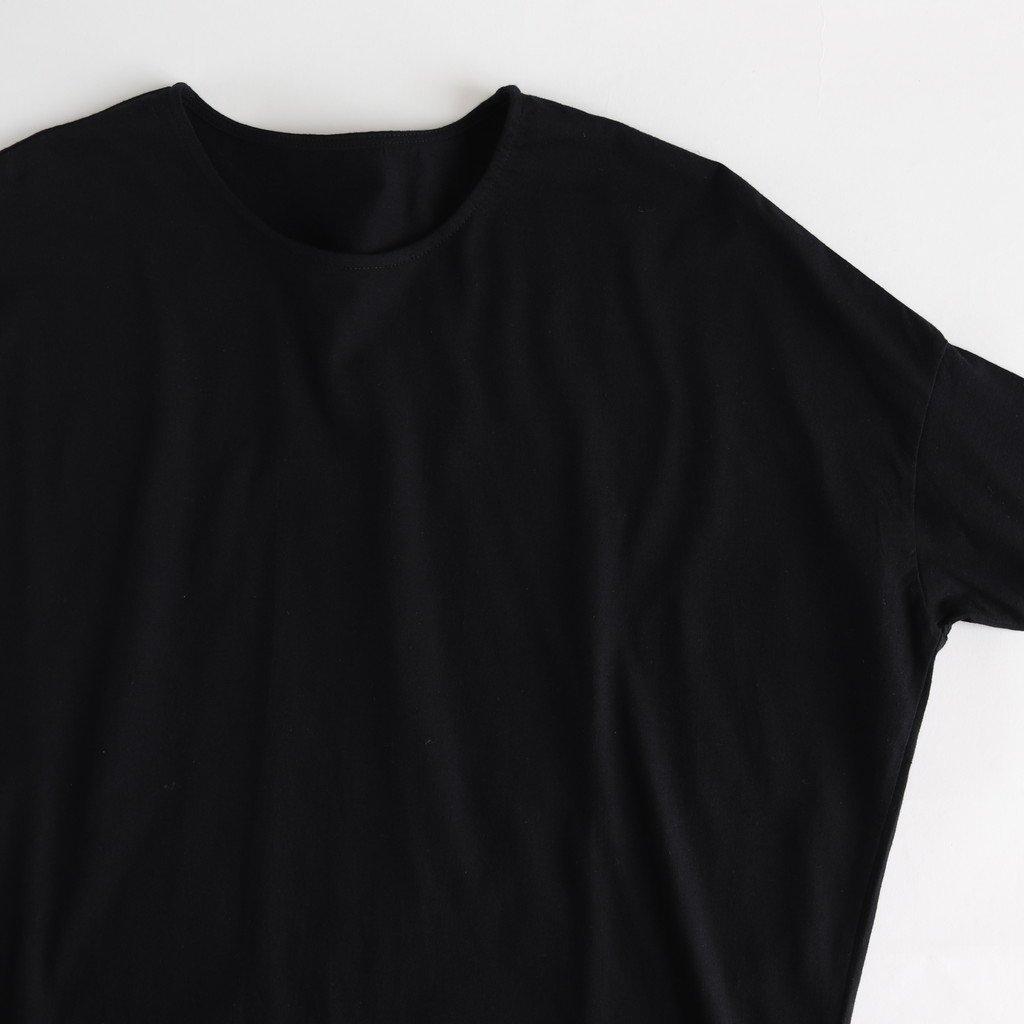30/-度詰天竺 ドロップショルダーTシャツ #BLACK [162-421]