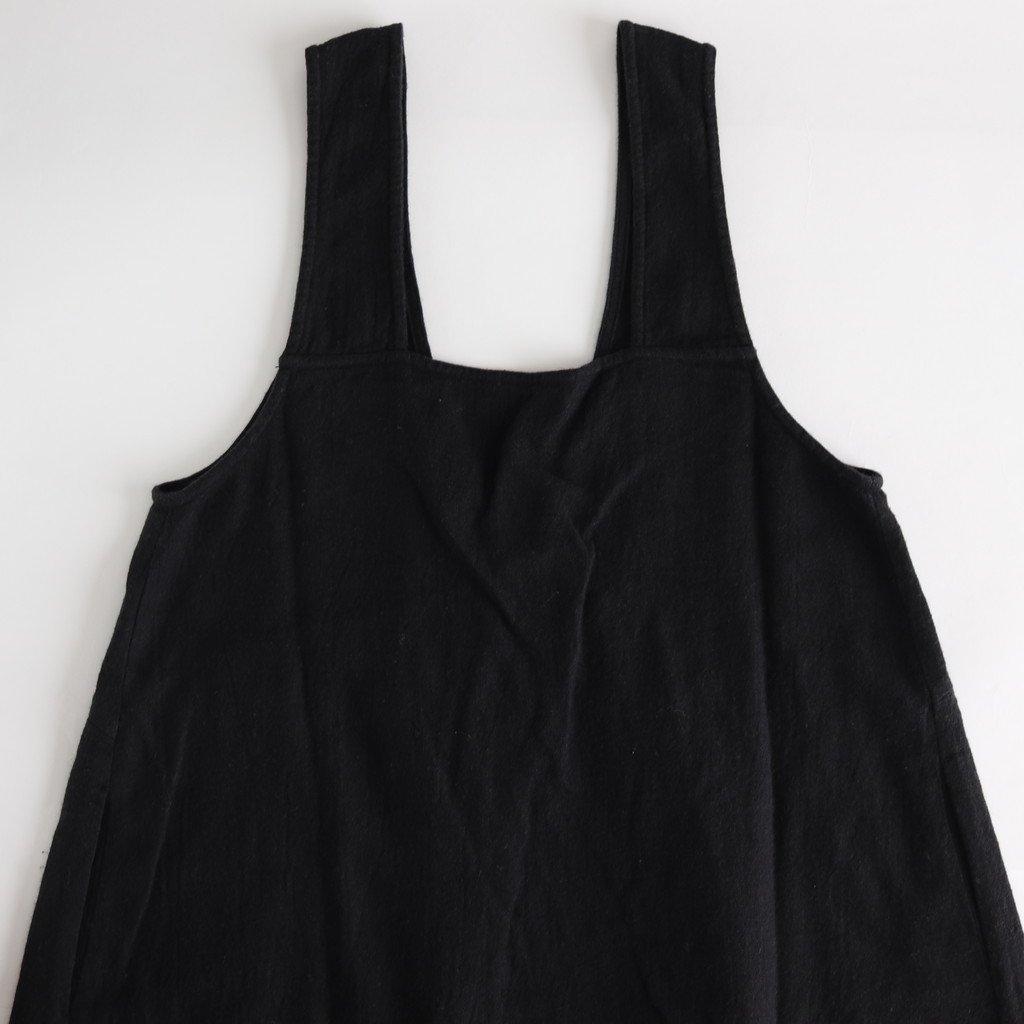 L/Wビエラ フロントギャザーワンピース #BLACK [192-584]