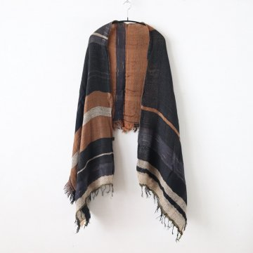 ROOTS SHAWL MIDDLE WOOL70% COTTON30% #ONLY ONE [20A012] - tamaki niime | 玉木新雌