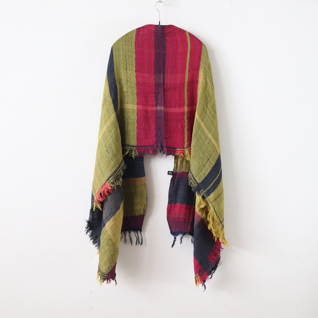 ROOTS SHAWL MIDDLE WOOL70% COTTON30% #ONLY ONE [20A007]