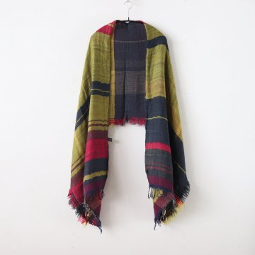 ROOTS SHAWL MIDDLE WOOL70% COTTON30% #ONLY ONE [20A007] - tamaki niime | 玉木新雌