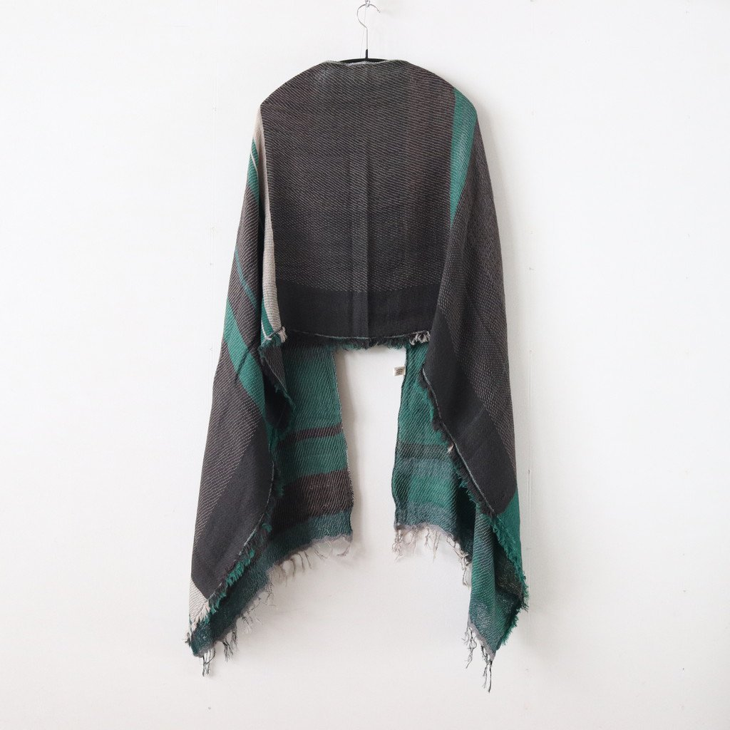 ROOTS SHAWL MIDDLE WOOL70% COTTON30% #ONLY ONE [20A005]