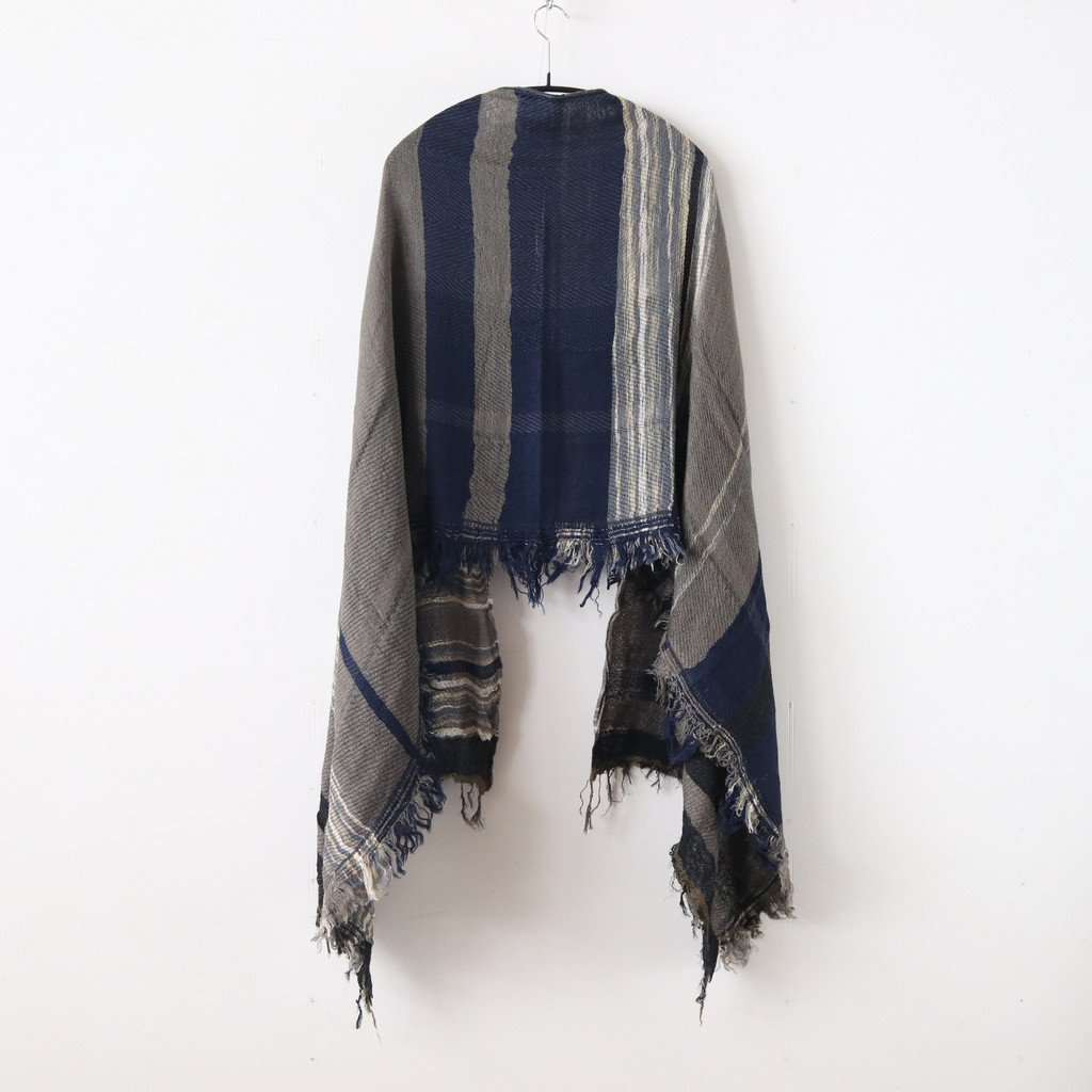 ROOTS SHAWL MIDDLE WOOL70% COTTON30% #ONLY ONE [20A003]