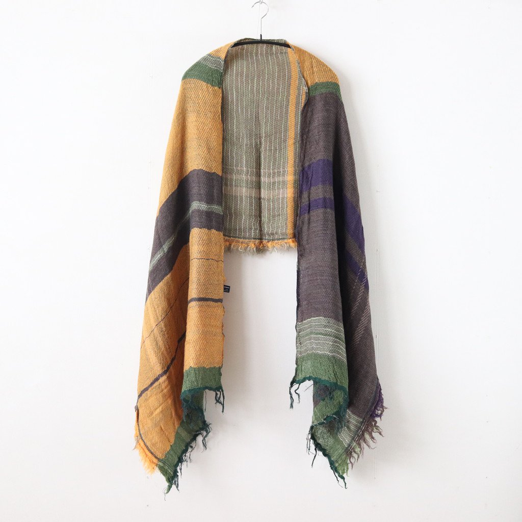 ROOTS SHAWL MIDDLE WOOL70% COTTON30% #ONLY ONE [20A001]