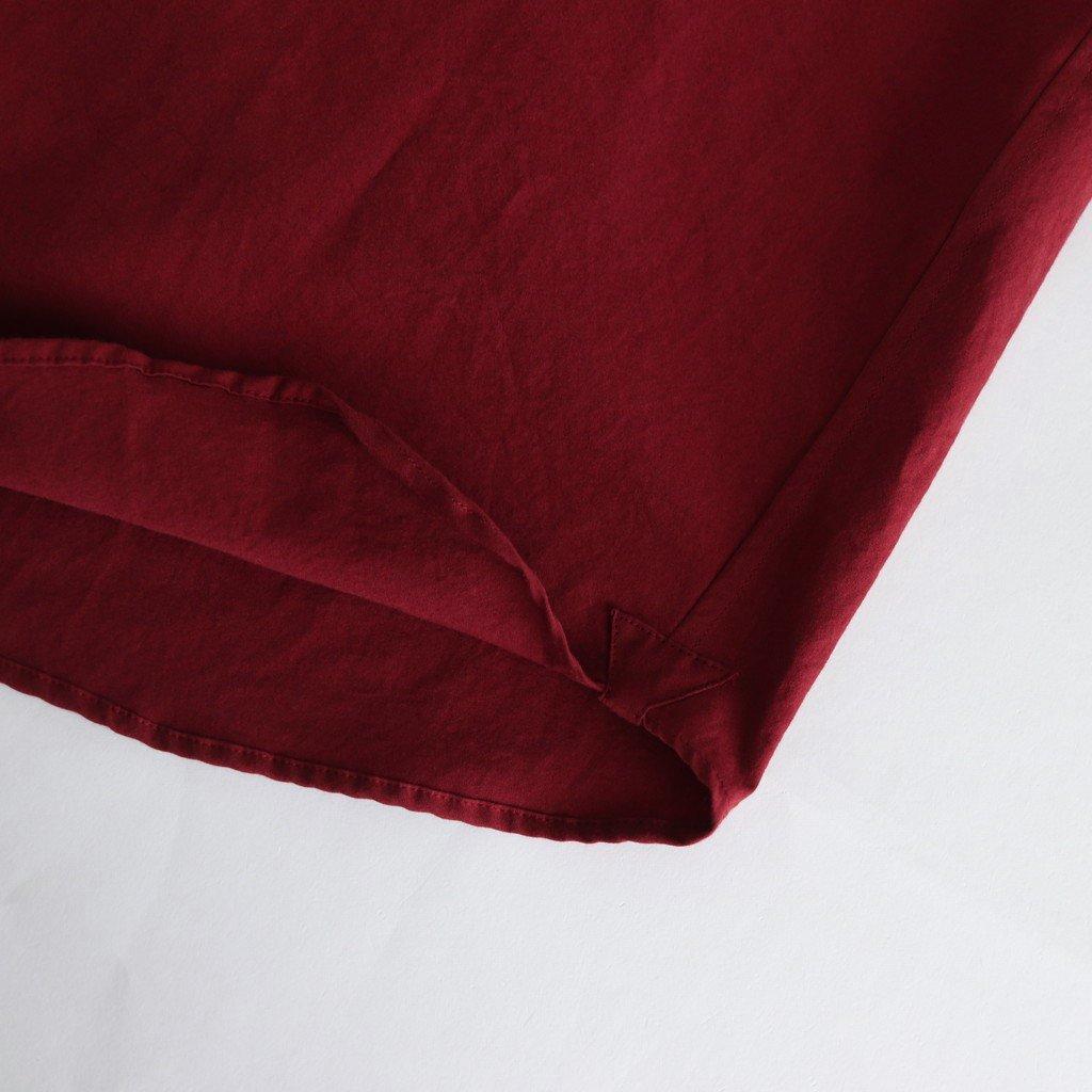 ヘムレンシャツ #ROUGE RED [19-356]