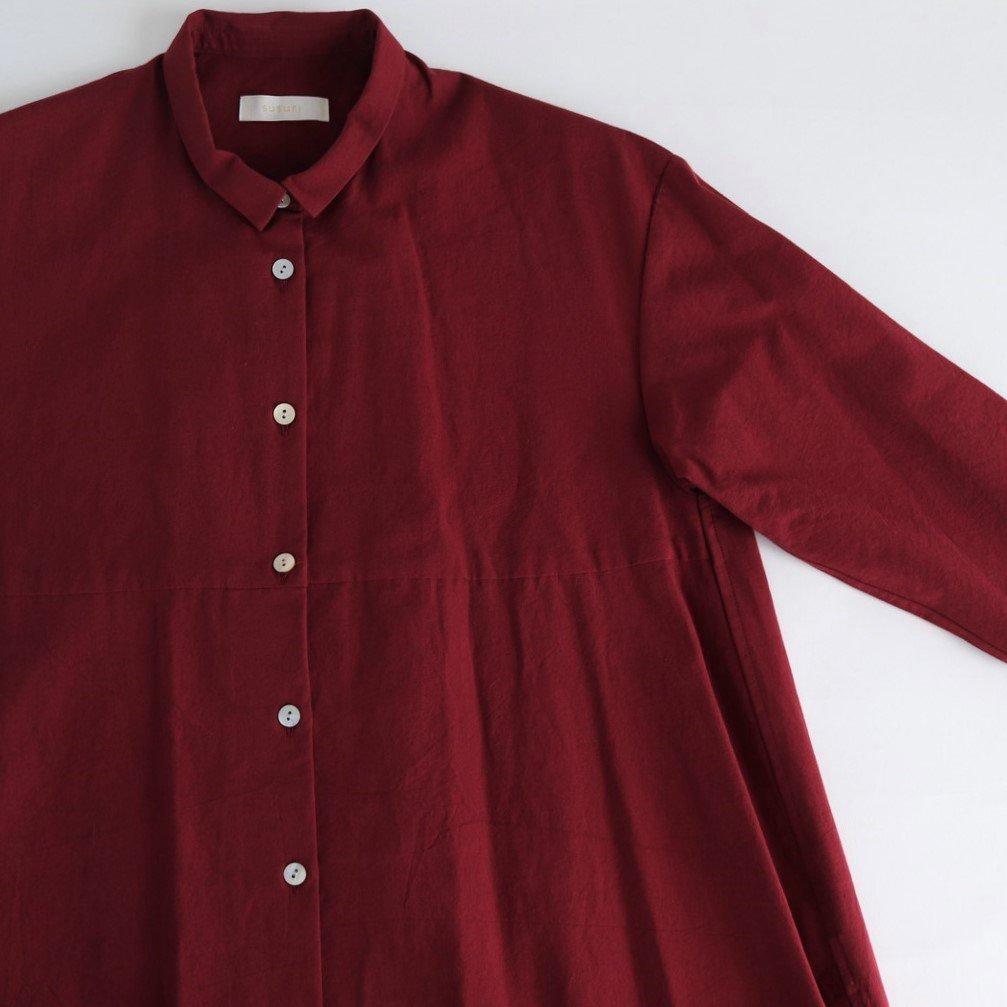 ヘムレンシャツワンピース #ROUGE RED [19-259]