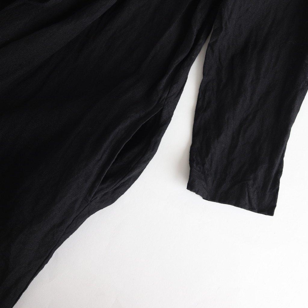 LINEN TIE ROBE #BLACK [no.3737]