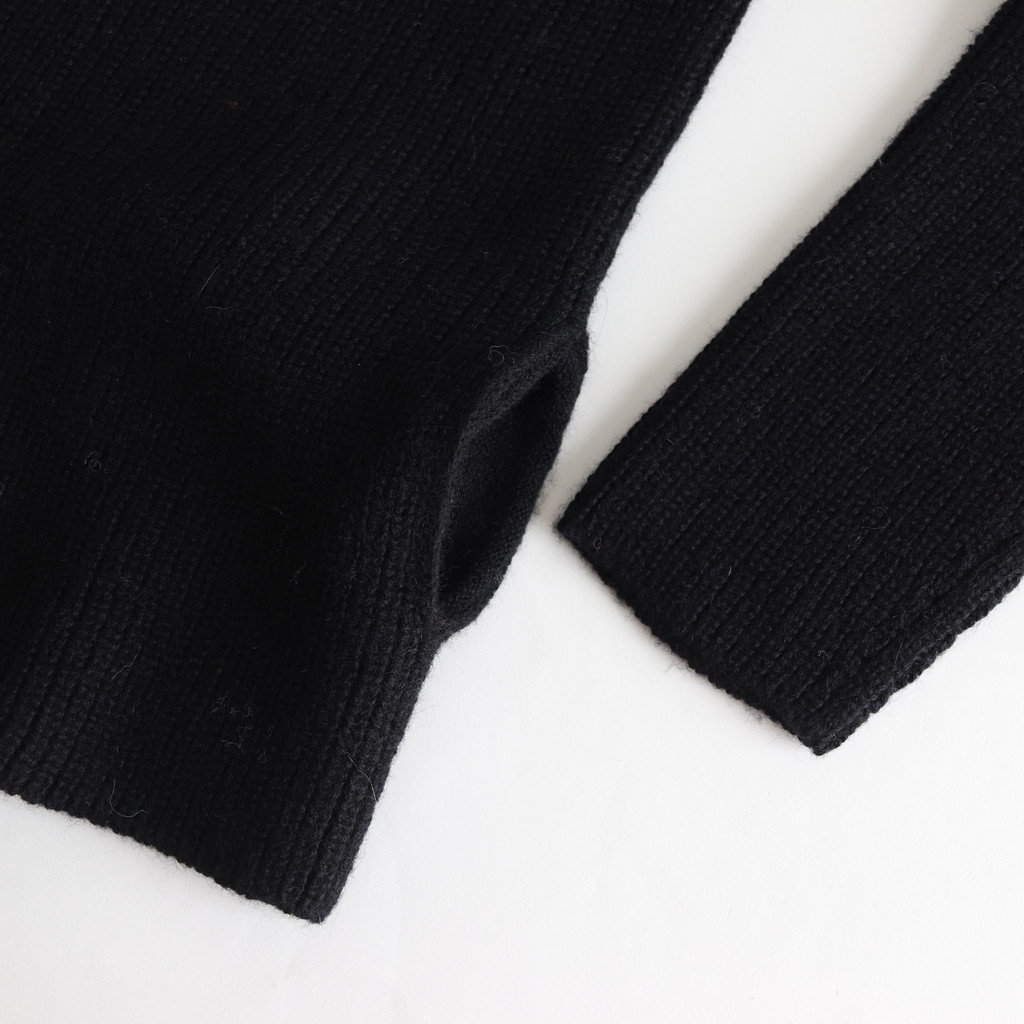WHOLE GARMENT PULLOVER KNIT #BLACK [sa19136-5]