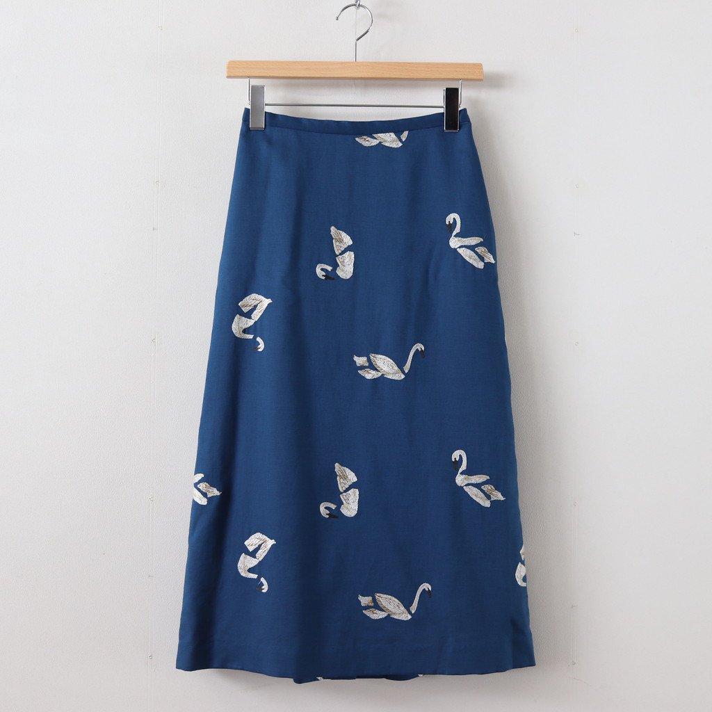 BROKEN SWAN/SKIRT #BLUE [sa19930-6]