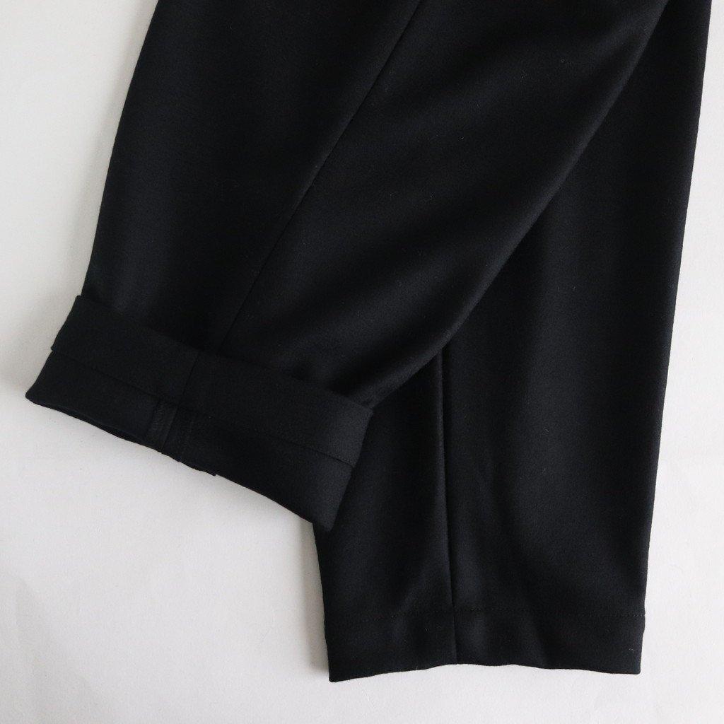 スムースニット テーパードパンツ #BLACK [192-567]