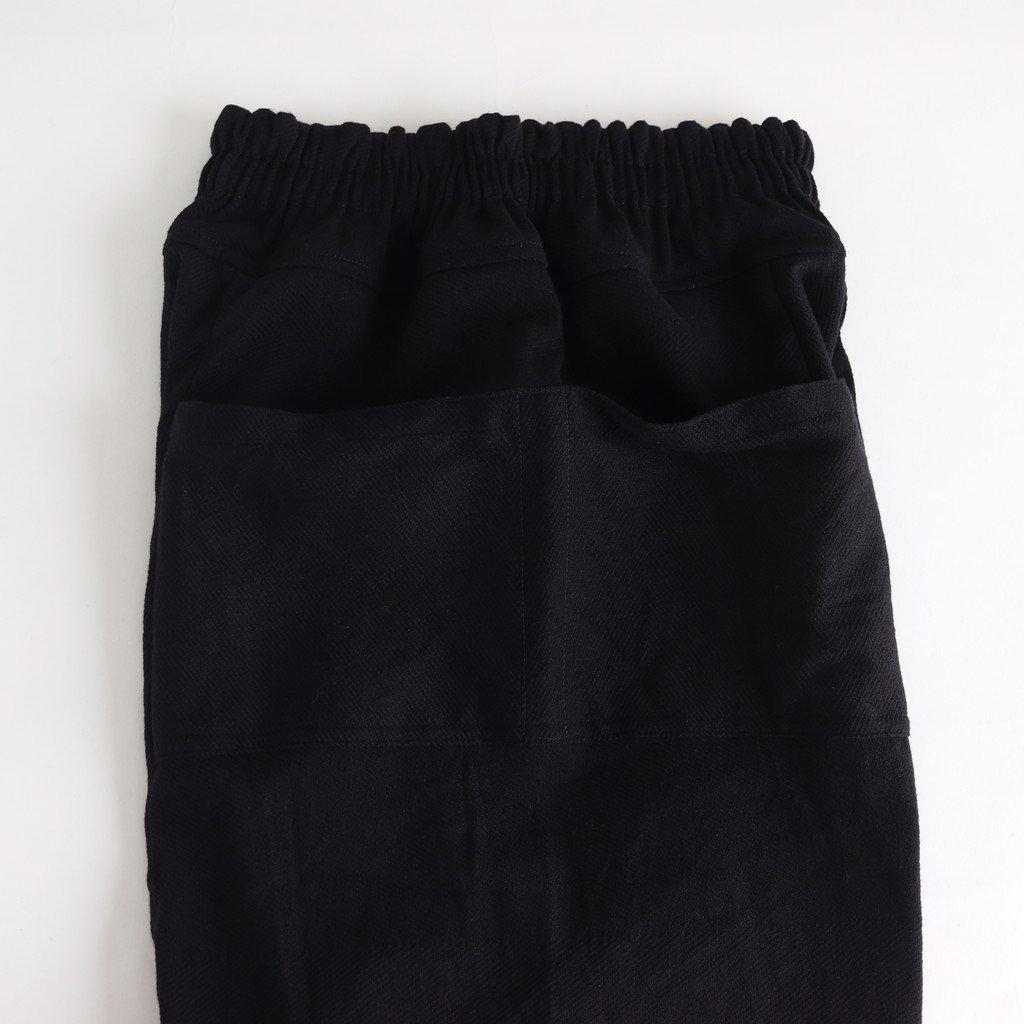 きぶん11月 TARUN PANTS LONG WOOL70% COTTON30% #黒 [き11WTPL]