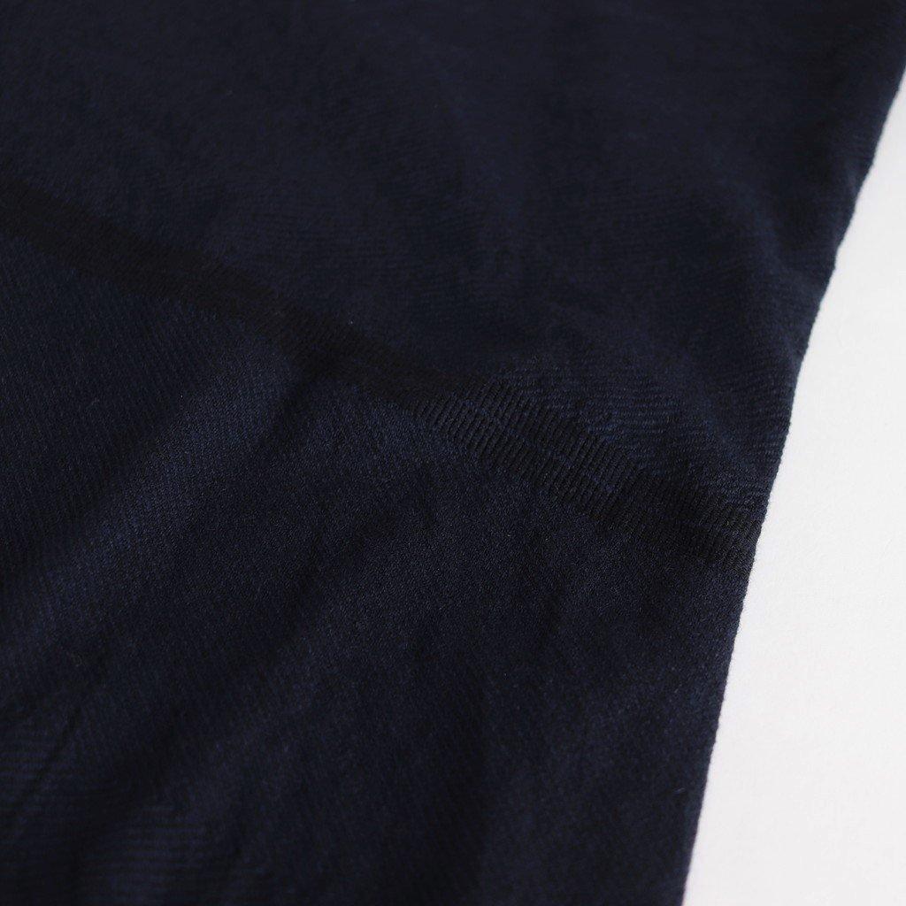 きぶん11月 WIDE PANTS LONG WOOL70% COTTON30% #紺 [き11WWPL]