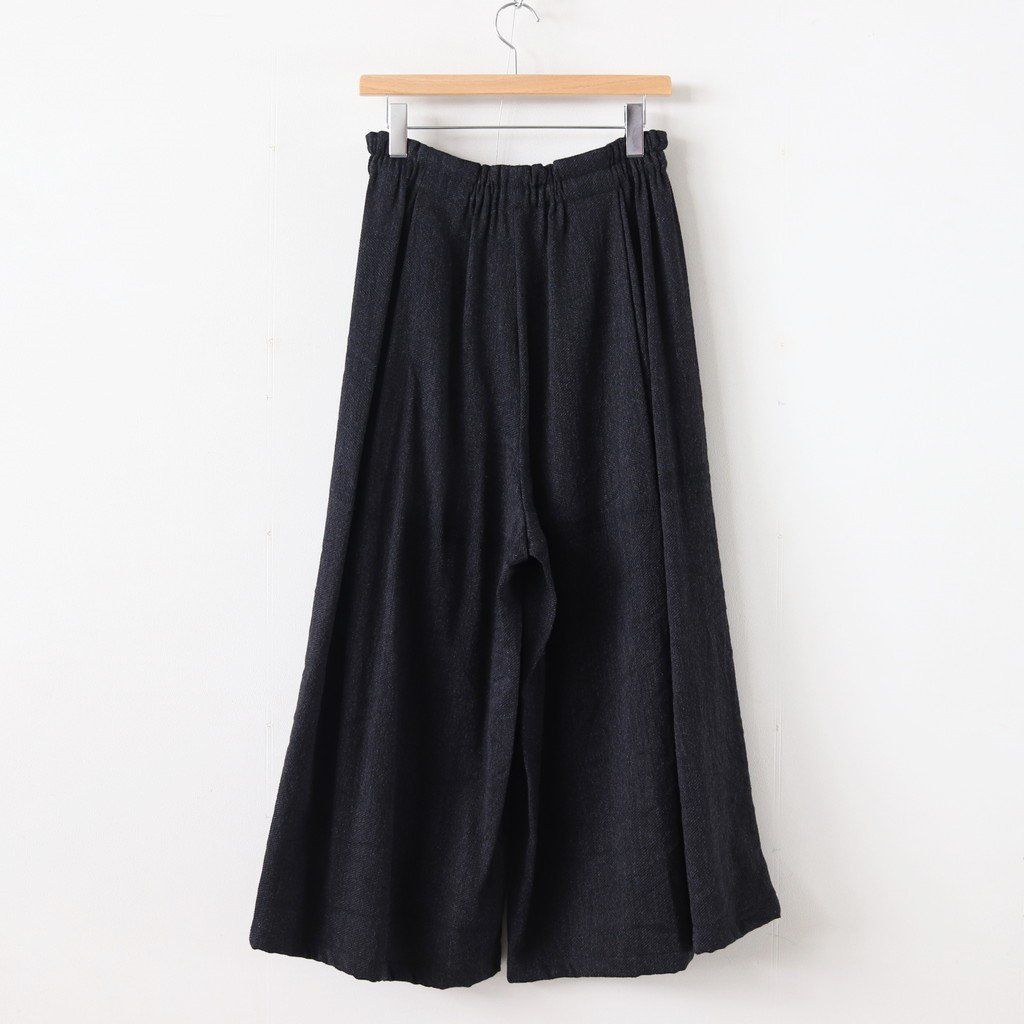 きぶん11月 WIDE PANTS LONG WOOL70% COTTON30% #グレー [き11WWPL]