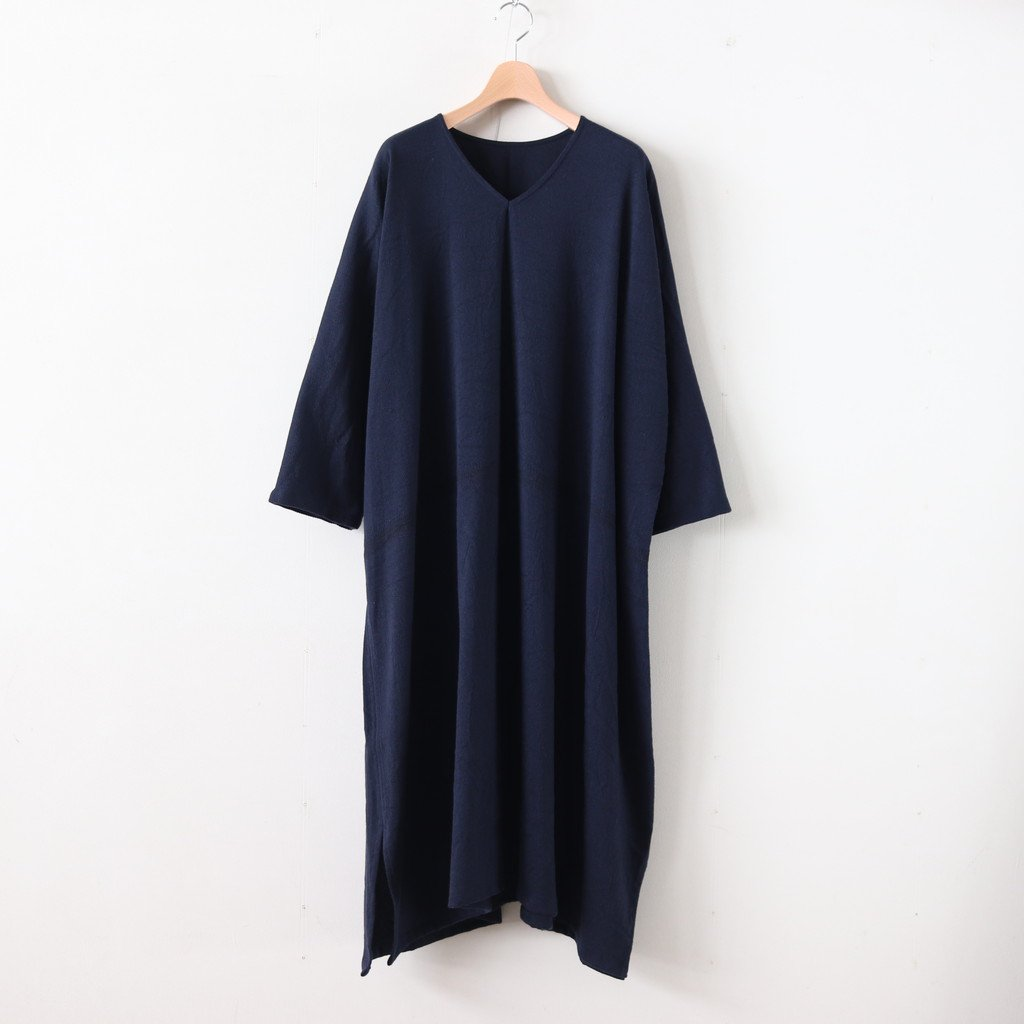 きぶん11月 FUWA-T ALL WOOL70% COTTON30% #紺 [き11WFWA]