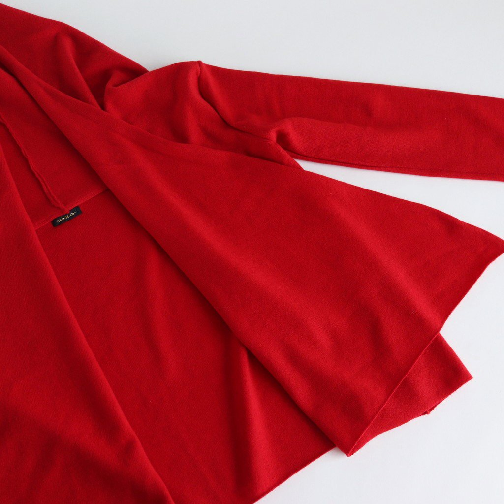WOOL CASHMERE CACHE COEUR CARDIGAN #RED [no.3887]