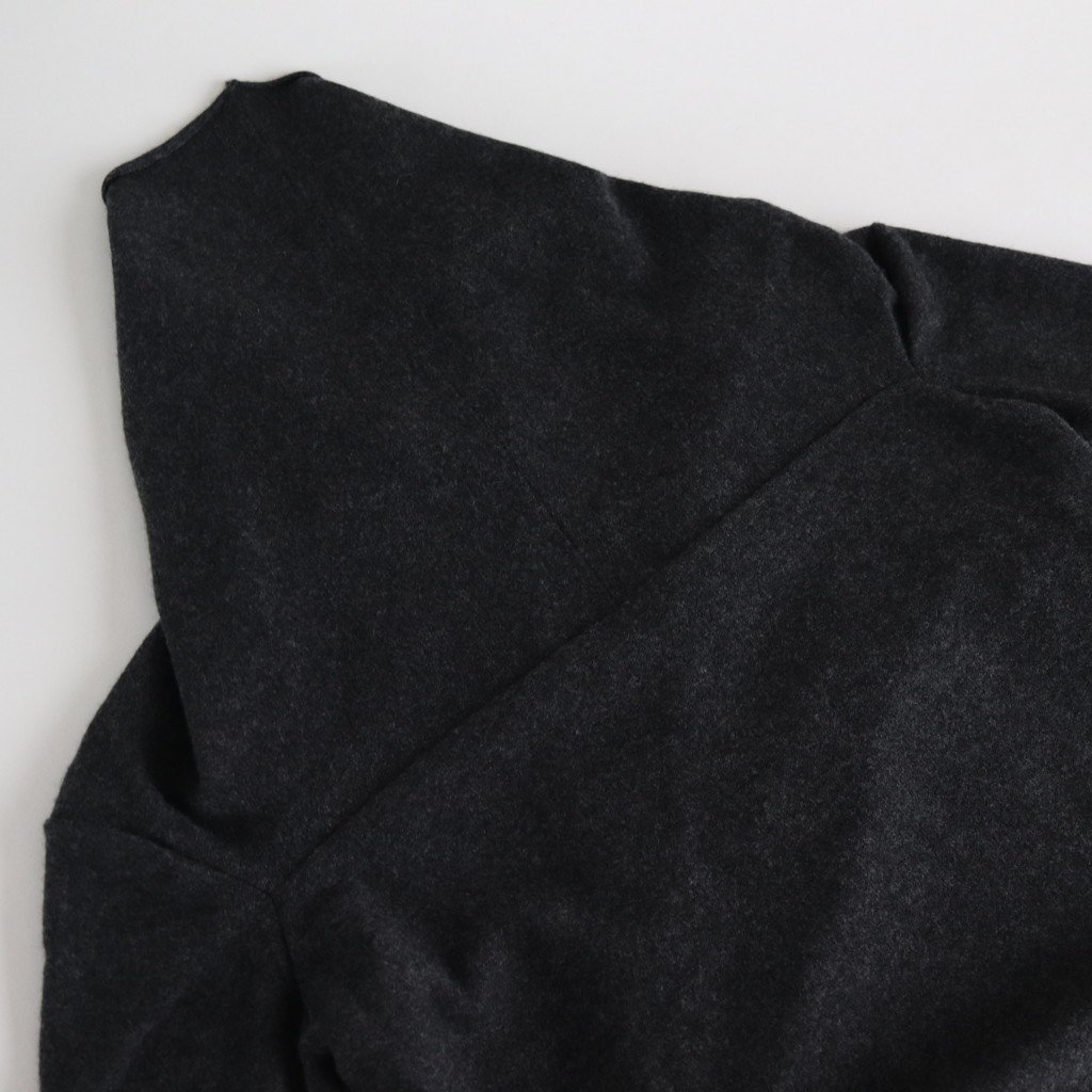WOOL CASHMERE CACHE COEUR CARDIGAN #CHARCOAL [no.3887]