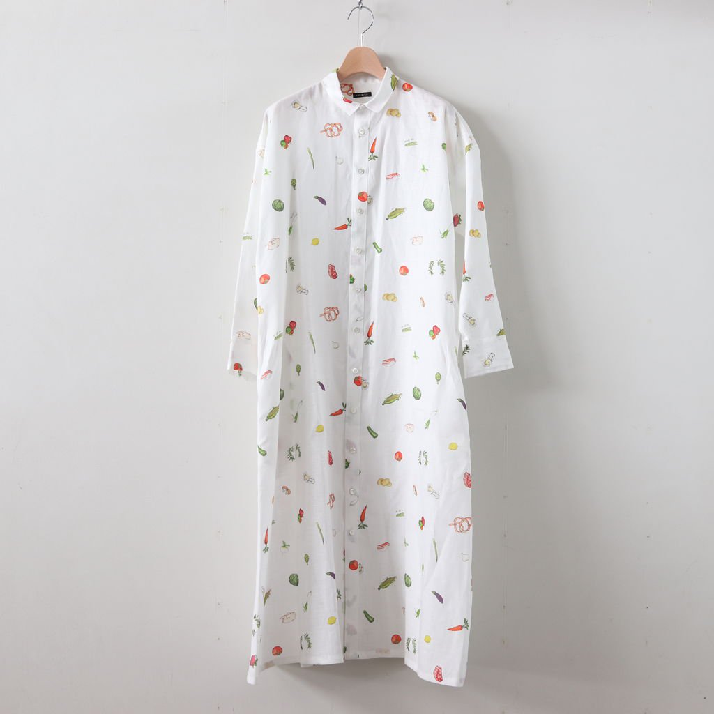 HARVEST FESTIVAL LONG SHIRT #WHITE [no.3976]