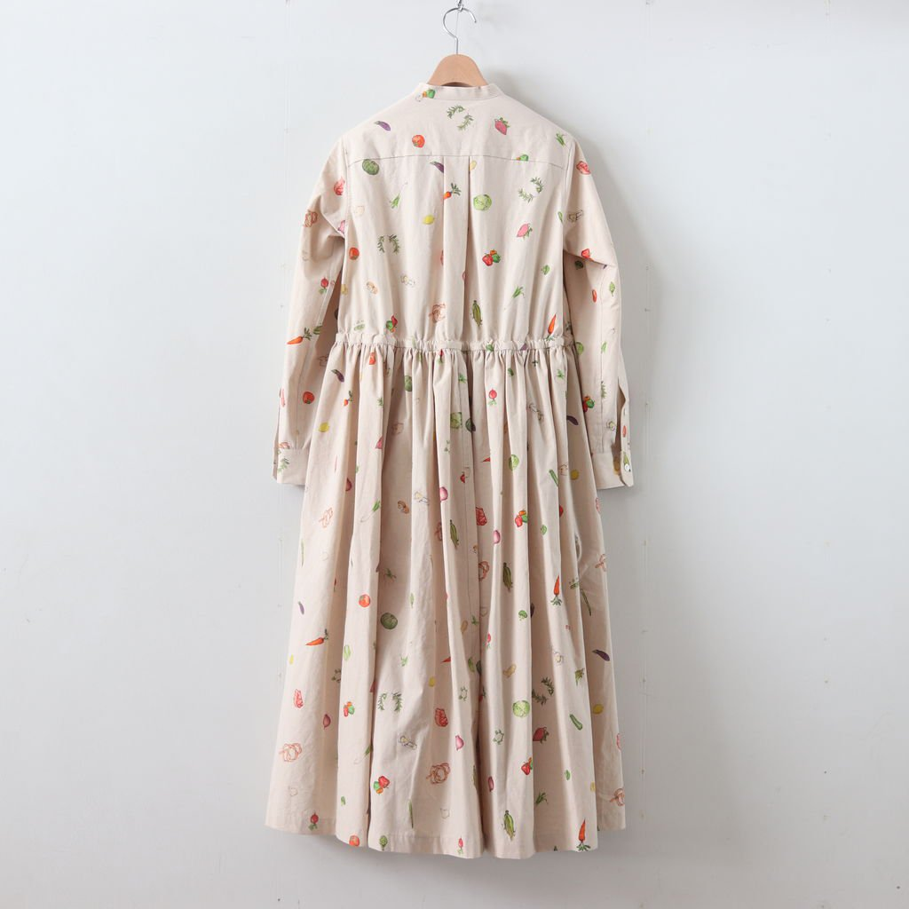 HARVEST FESTIVAL FRONT OPEN DRESS #NATURAL [no.3968]