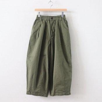 CIRCUS PANTS CHINO CLOTH GARMENT DYED #MILITARY GREEN [A11709] _ HARVESTY | ハーベスティ
