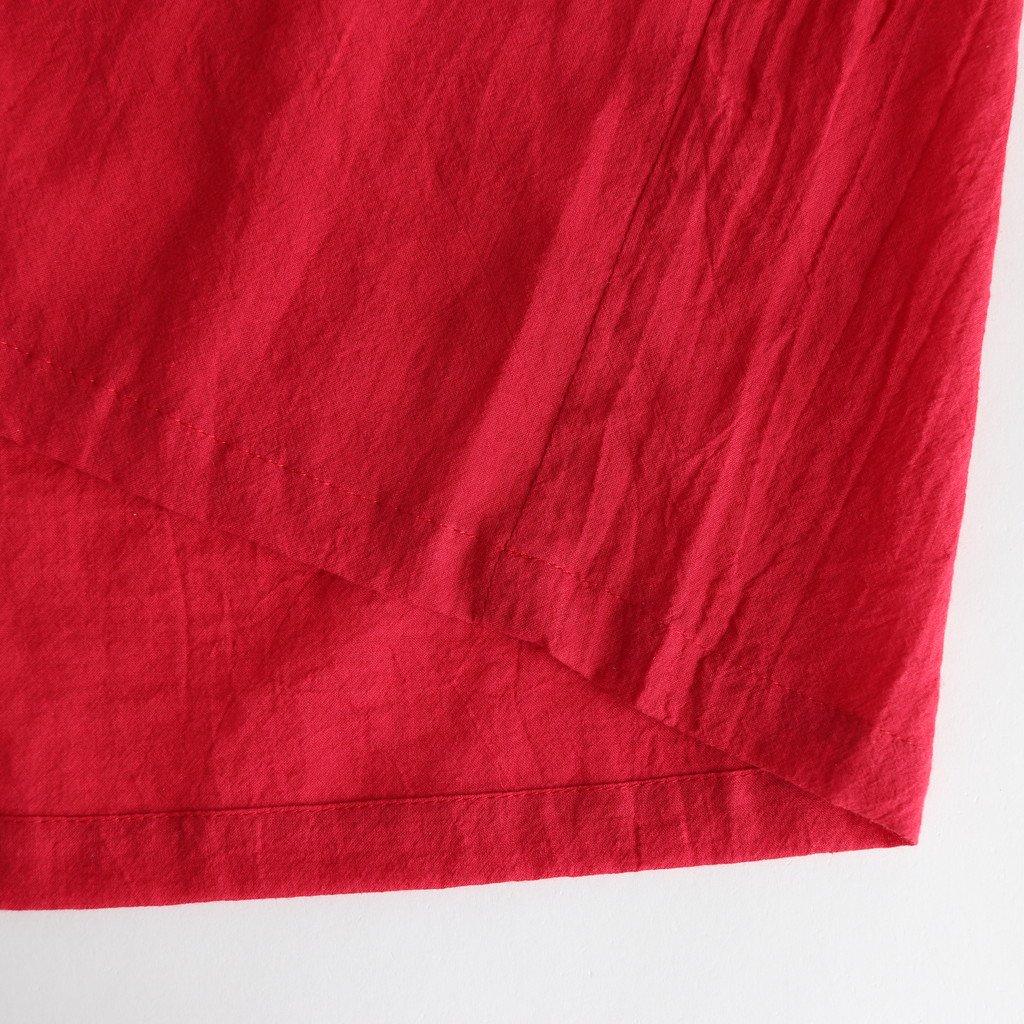 シルクコットンローンギャザーワンピース #RED [OP20210]