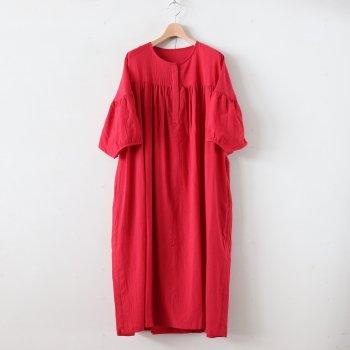 シルクコットンローンギャザーワンピース #RED [OP20210] _ pub | ピューブ