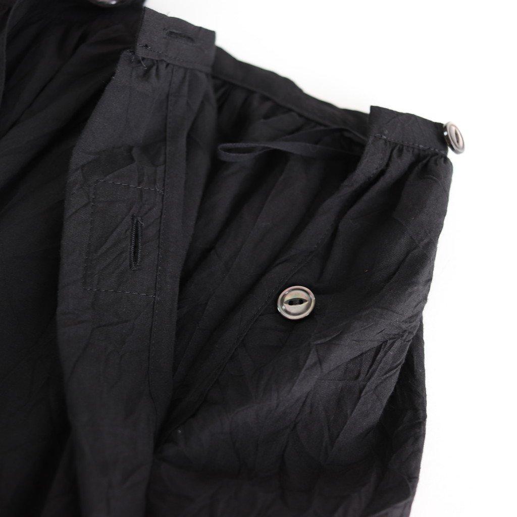 マイヤーコットンサスペンダースカート #BLACK [SK20207]