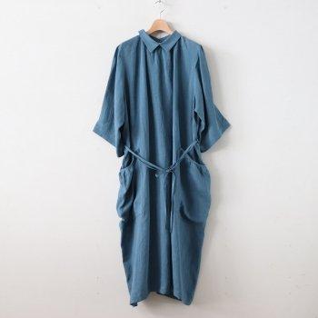 SEEDING ONE-PIECE - CLEAN SACKCLOTH #BLUE [OP-34-201302] _ ASEEDONCLOUD | アシードンクラウド