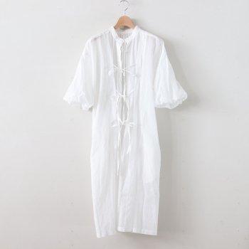靄然のBALLOON SLEEVE DRESS #ホワイト [TLF-220-op001-b] _ the last flower of the afternoon | ザラストフラワーオブジアフタヌーン