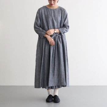 CHAMBRAY PULL OVER DRESS #NAVY [no.4251] _ R&D.M.Co- OLDMAN'S TAILOR | オールドマンズテーラー