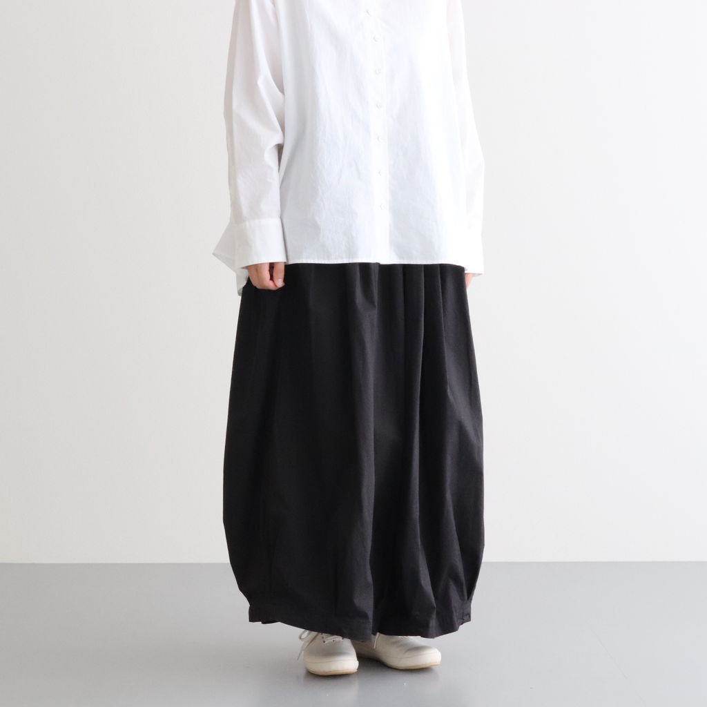 <img class='new_mark_img1' src='https://img.shop-pro.jp/img/new/icons1.gif' style='border:none;display:inline;margin:0px;padding:0px;width:auto;' />CIRCUS CULOTTES 40 COMBED TWILL #BLACK [A21609]