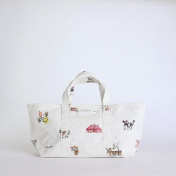 CIRCUS TOTE BAG S #WHITE [no.4286] _ R&D.M.Co- OLDMAN'S TAILOR | オールドマンズテーラー