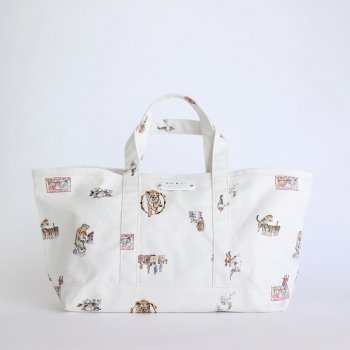 CIRCUS TOTE BAG L #WHITE [no.4287] _ R&D.M.Co- OLDMAN'S TAILOR | オールドマンズテーラー