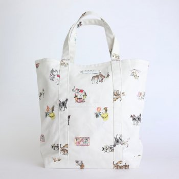 CIRCUS TOTE BAG TALL #WHITE [no.4289] _ R&D.M.Co- OLDMAN'S TAILOR | オールドマンズテーラー