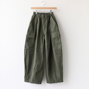 CIRCUS CARGO PANTS 60/2 GABARDINE #MILITARY GREEN [A11908] _ HARVESTY | ハーベスティ