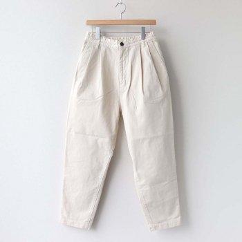 EASY EGG PANTS CHINO CLOTH #IVORY [A11913] _ HARVESTY | ハーベスティ