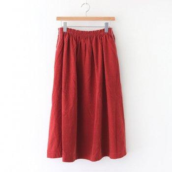 シャツコールギャザースカート #レンガ [202-645] _ koton | コトン