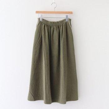 シャツコールギャザースカート #オリーブグリーン [202-645] _ koton | コトン