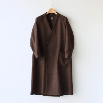 ASEEDONCLOUD | アシードンクラウド - KNOCKER COAT - UNDERGROUND WOOL #BROWN [OU-55-202107]