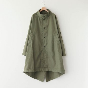 FRENCH WORKER SERGE MILITARY OVER COAT #MILITARY GREEN [A32013] _ HARVESTY | ハーベスティ