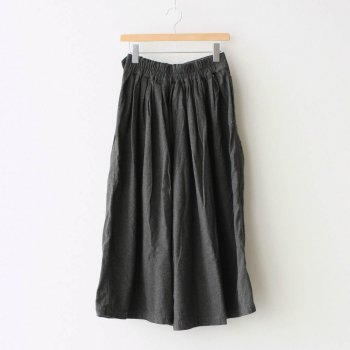 LONG CULOTTES COTTON FLANNEL #CHARCOAL [A32008] _ HARVESTY   ハーベスティ