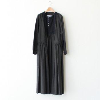 秋霧のEMBROIDERY YOKE DRESS #スミクロ [TLF-220-op004-C] _ the last flower of the afternoon | ザラストフラワーオブジアフタヌーン